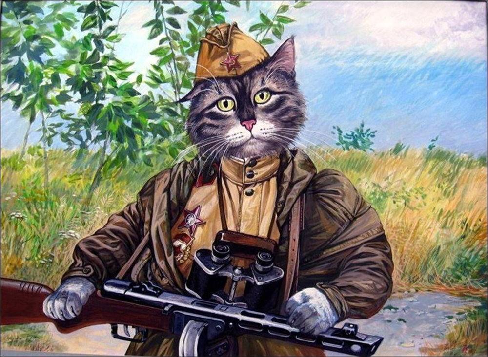 """画家亚历山大.扎瓦利的""""典型猫""""_图1-3"""