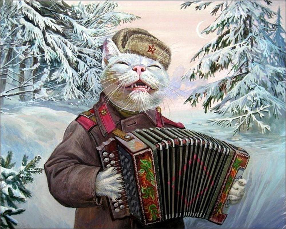 """画家亚历山大.扎瓦利的""""典型猫""""_图1-7"""