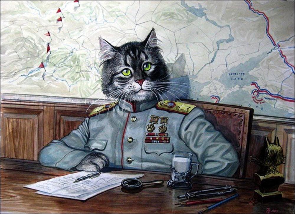 """画家亚历山大.扎瓦利的""""典型猫""""_图1-8"""
