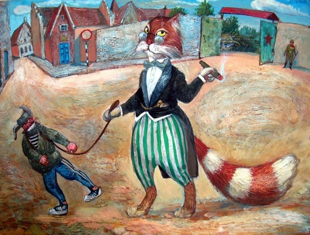 """画家亚历山大.扎瓦利的""""典型猫""""_图1-10"""
