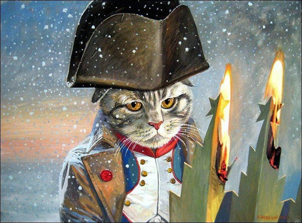 """画家亚历山大.扎瓦利的""""典型猫""""_图1-12"""