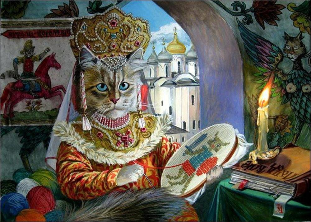 """画家亚历山大.扎瓦利的""""典型猫""""_图1-13"""