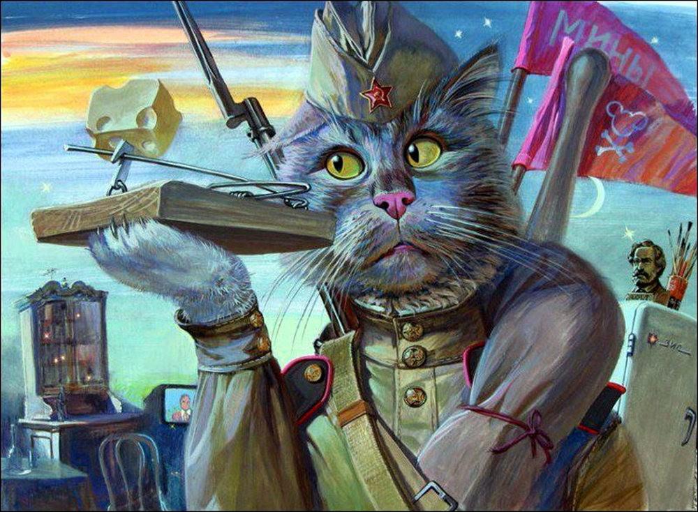 """画家亚历山大.扎瓦利的""""典型猫""""_图1-14"""