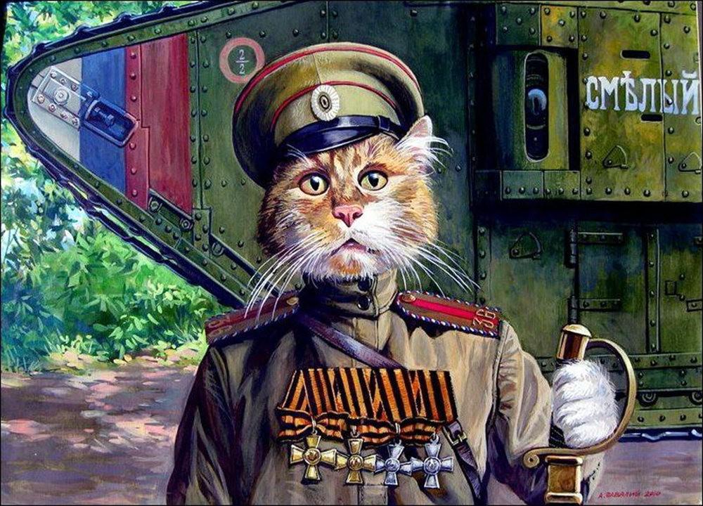 """画家亚历山大.扎瓦利的""""典型猫""""_图1-15"""