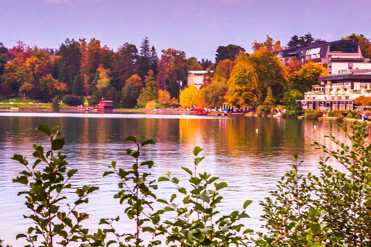 斯洛文尼亚布莱德湖(Lake Bled),湖边看景_图1-18
