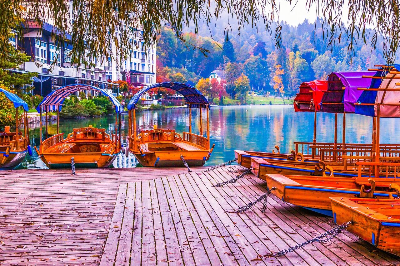 斯洛文尼亚布莱德湖(Lake Bled),湖边看景_图1-19