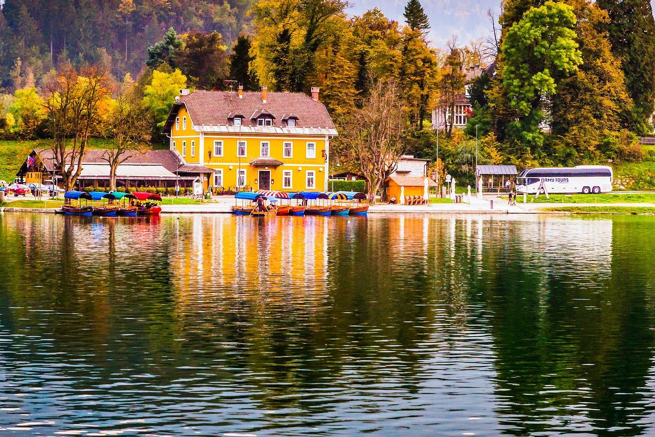 斯洛文尼亚布莱德湖(Lake Bled),湖边看景_图1-16