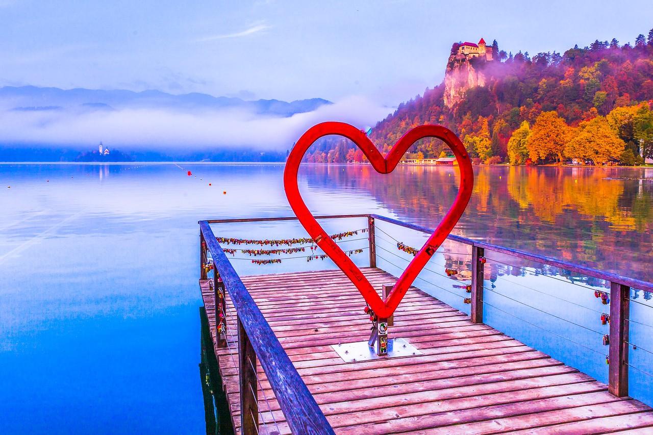 斯洛文尼亚布莱德湖(Lake Bled),湖边看景_图1-14