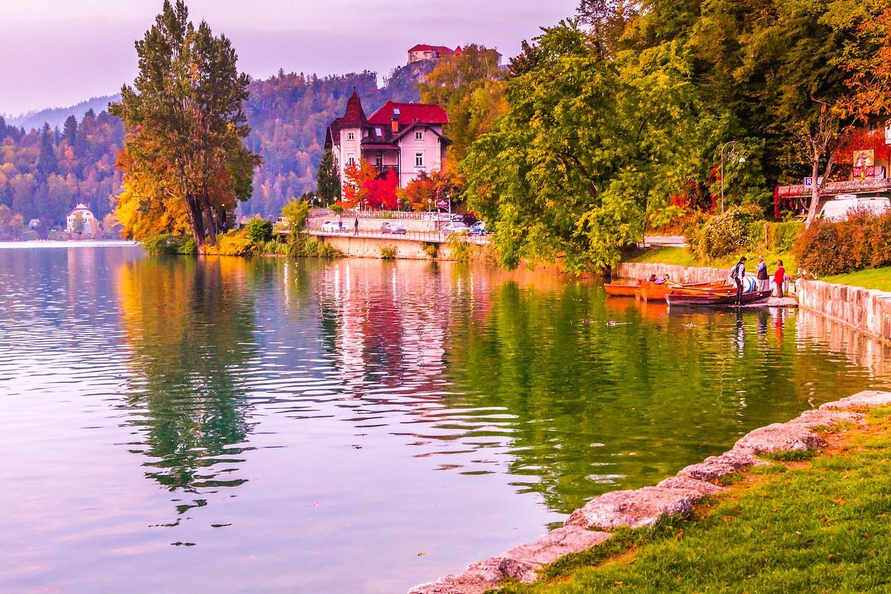 斯洛文尼亚布莱德湖(Lake Bled),湖边看景_图1-13