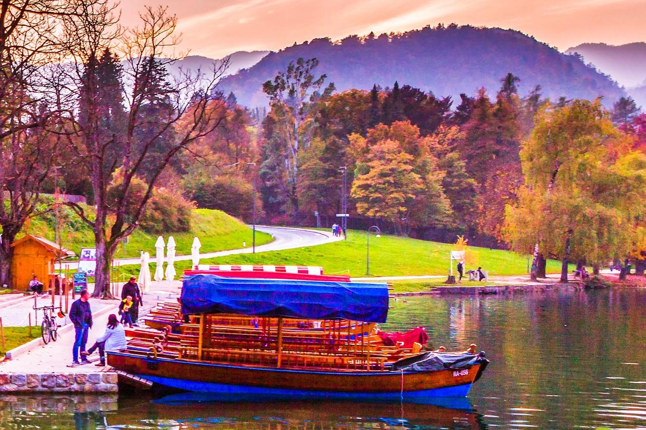 斯洛文尼亚布莱德湖(Lake Bled),湖边看景_图1-8