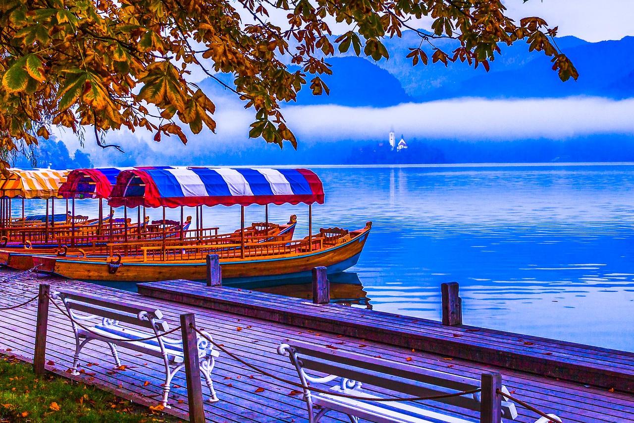 斯洛文尼亚布莱德湖(Lake Bled),湖边看景_图1-7