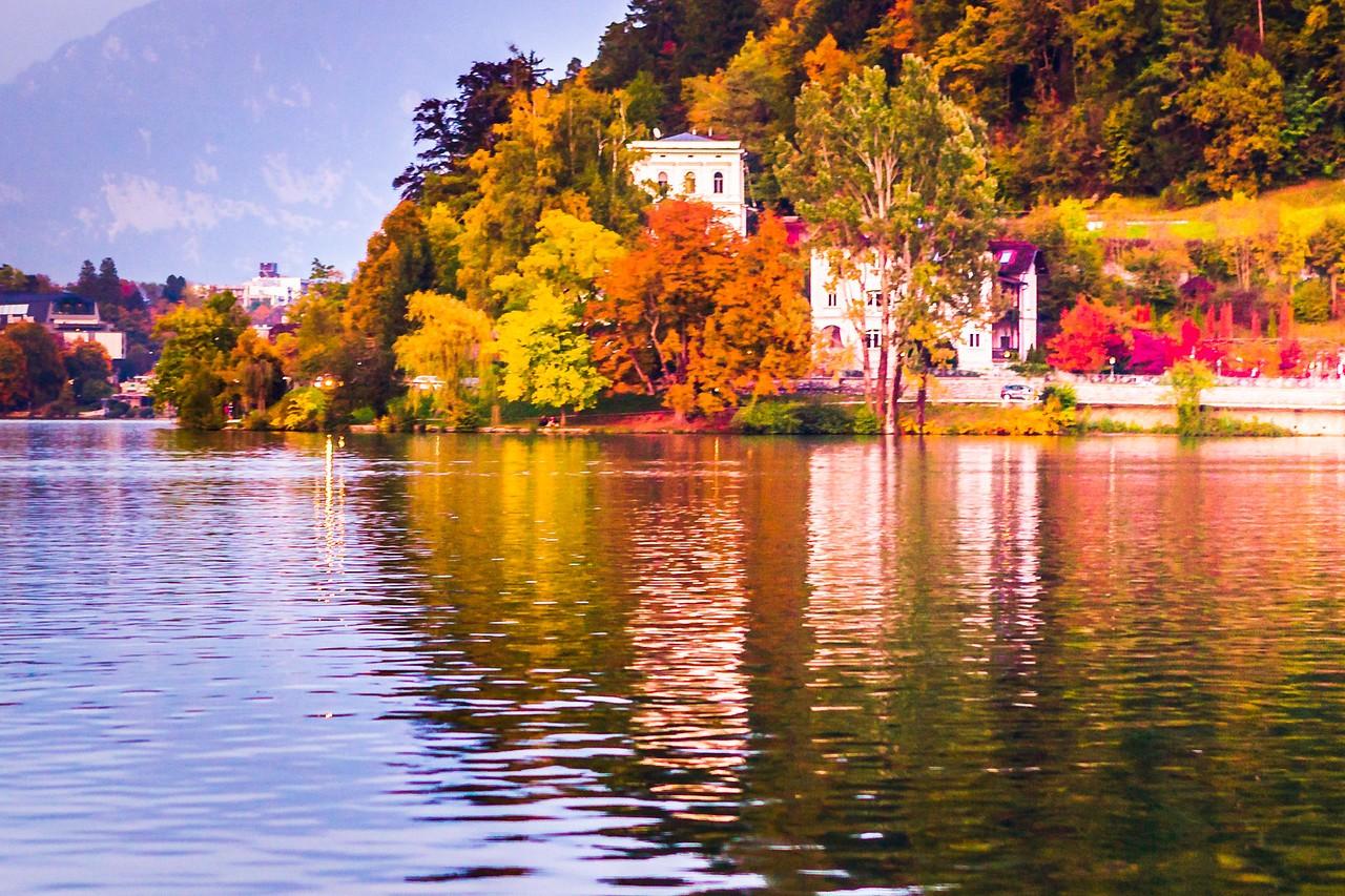 斯洛文尼亚布莱德湖(Lake Bled),湖边看景_图1-6