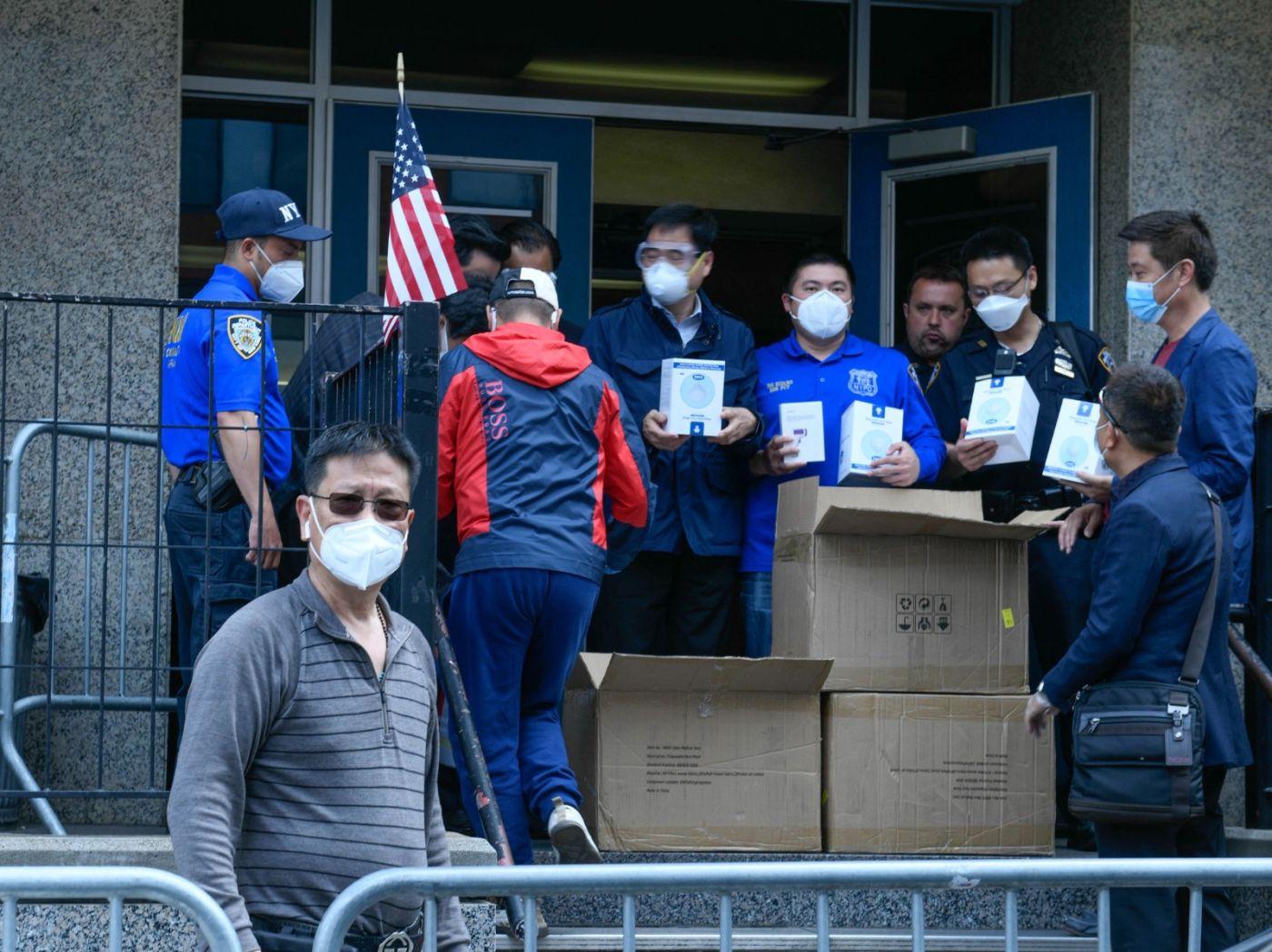 美国福建同乡会企业家捐赠防疫物资给纽约警察与亚美医师协会 ... ... ..._图1-6
