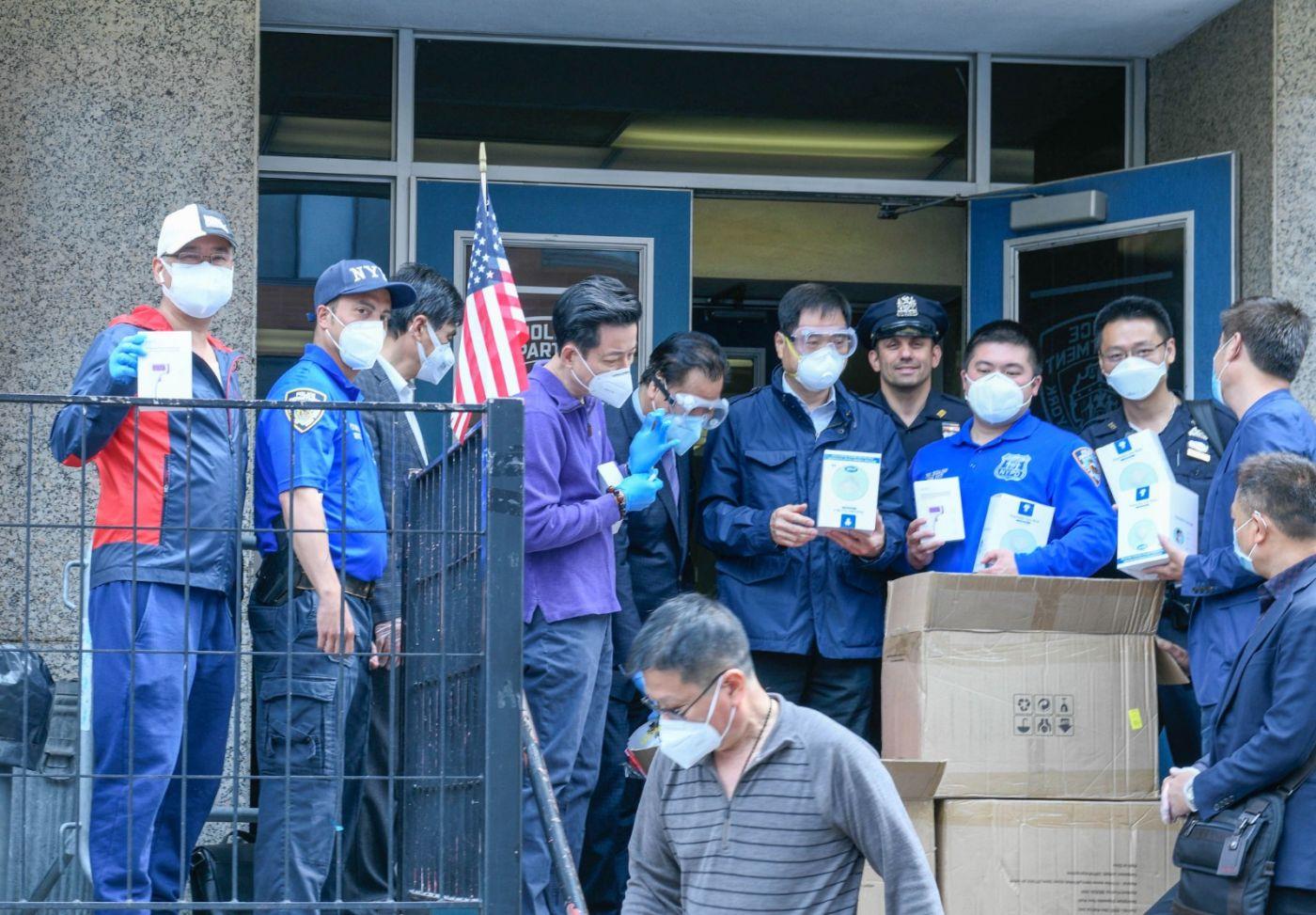 美国福建同乡会企业家捐赠防疫物资给纽约警察与亚美医师协会 ... ... ..._图1-7