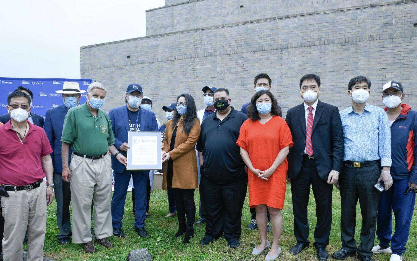 华人企业家与福建侨团向皇后区中心医院捐赠医疗物资_图1-4