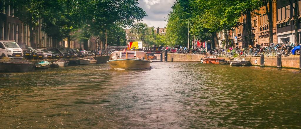 荷兰阿姆斯特丹,坐船游城_图1-6