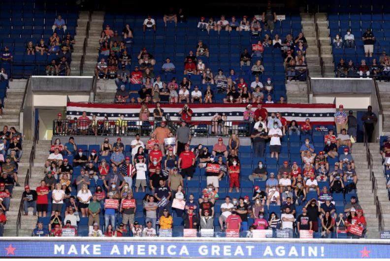 特朗普召开了一次不该开的竞选集会_图1-1