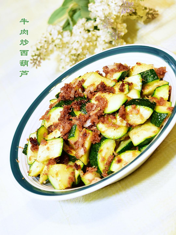 牛肉炒西葫芦_图1-4