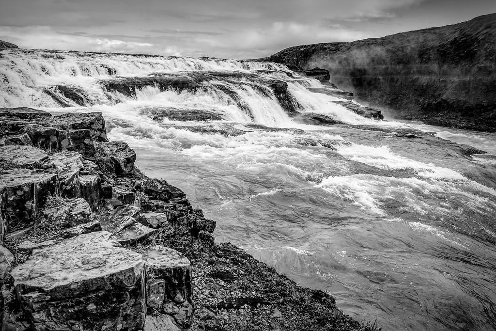 冰岛古佛斯瀑布(Gullfoss),场面震撼_图1-5