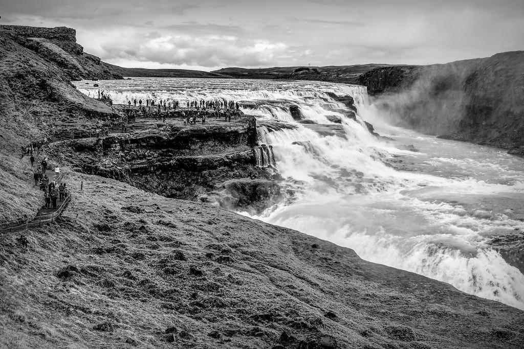 冰岛古佛斯瀑布(Gullfoss),场面震撼_图1-4