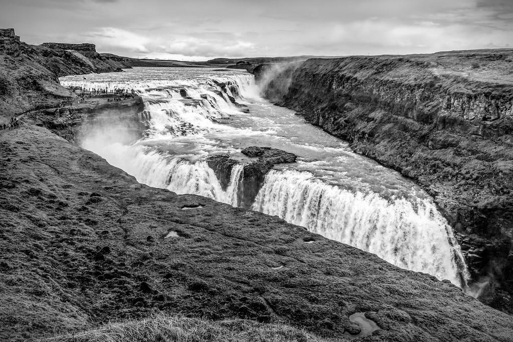 冰岛古佛斯瀑布(Gullfoss),场面震撼_图1-2