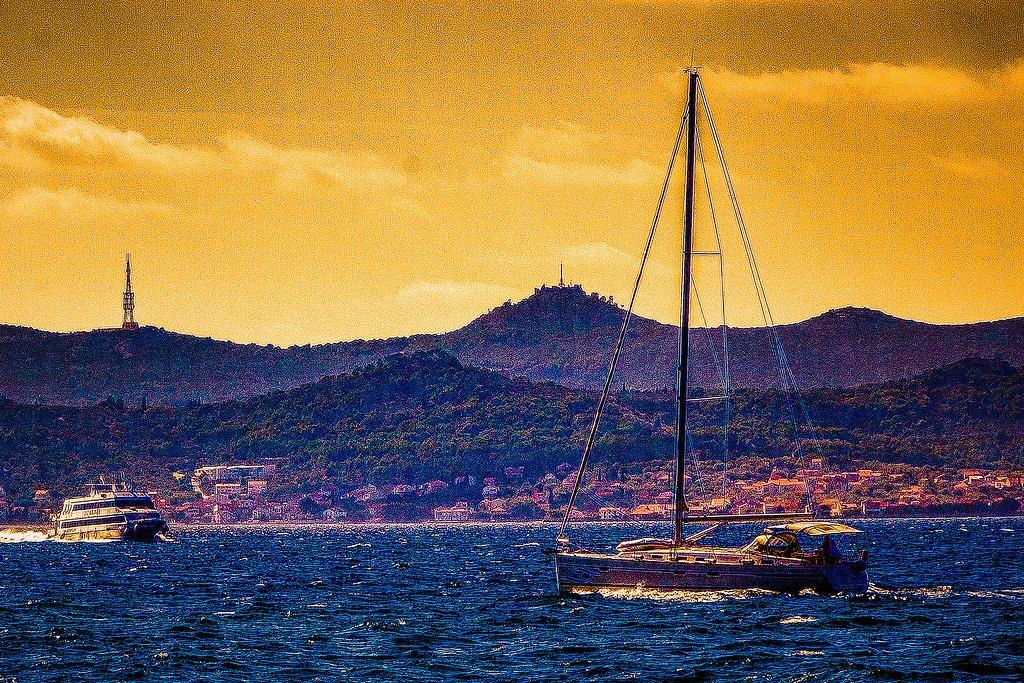 克罗地亚扎达尔(Zadar),滨江岸景_图1-29