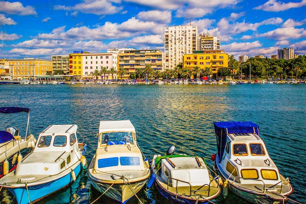 克罗地亚扎达尔(Zadar),滨江岸景_图1-30