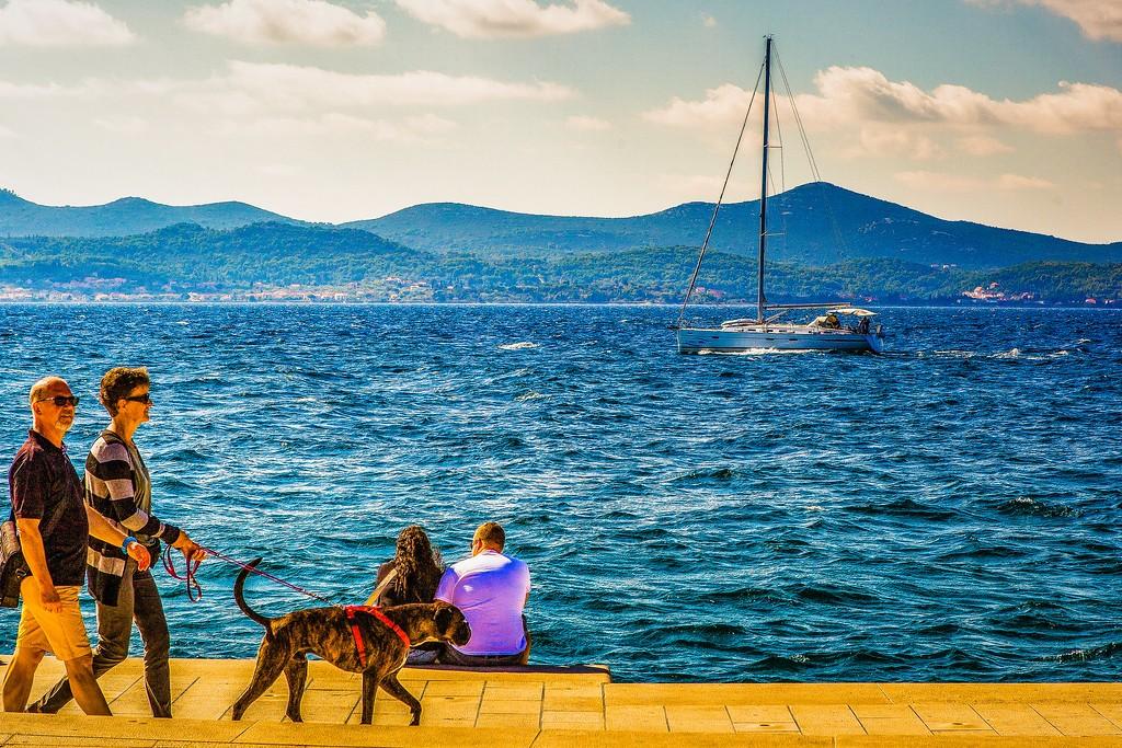 克罗地亚扎达尔(Zadar),滨江岸景_图1-21