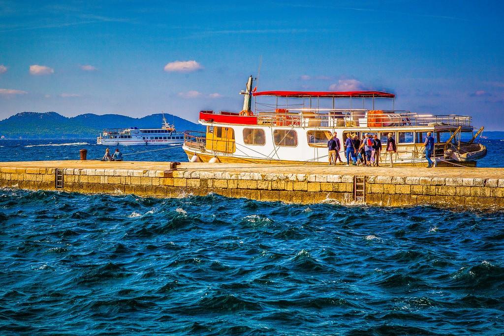 克罗地亚扎达尔(Zadar),滨江岸景_图1-22