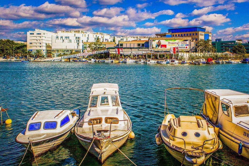 克罗地亚扎达尔(Zadar),滨江岸景_图1-11