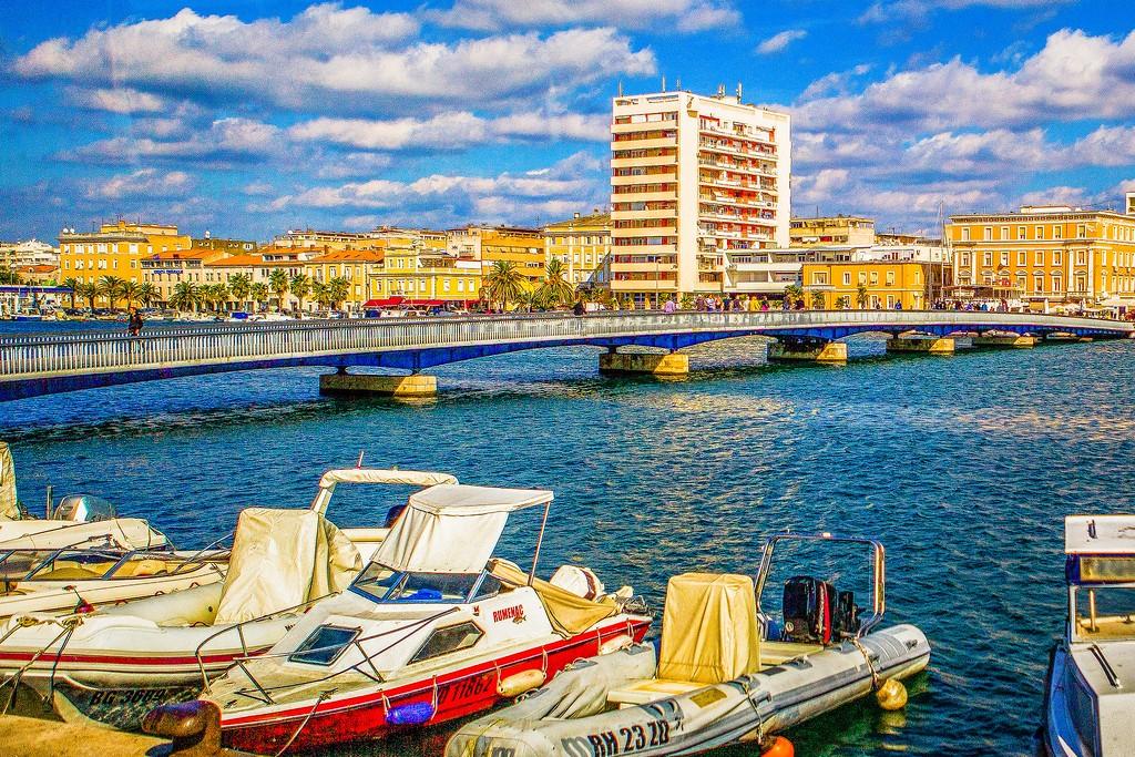 克罗地亚扎达尔(Zadar),滨江岸景_图1-6