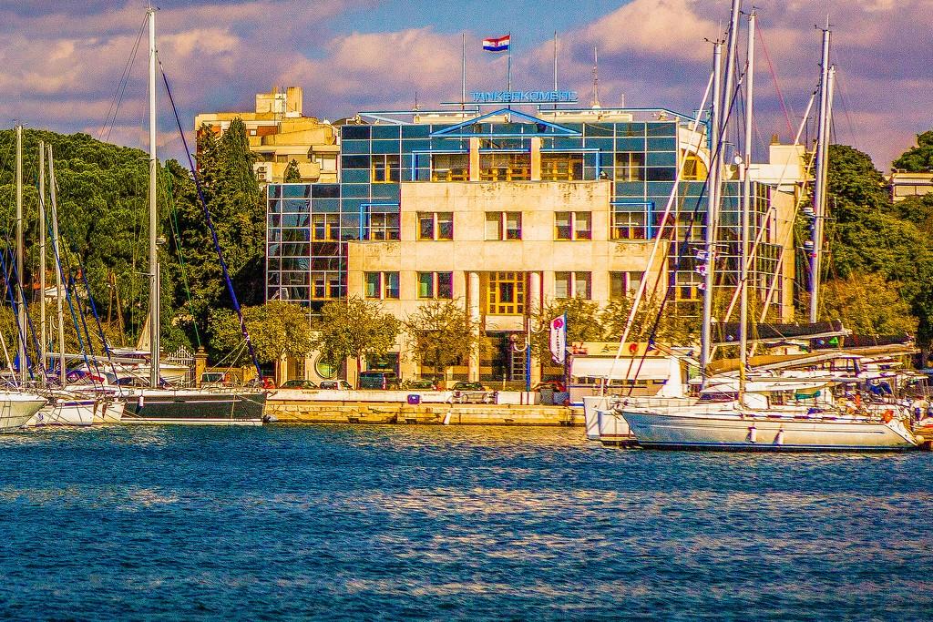 克罗地亚扎达尔(Zadar),滨江岸景_图1-5