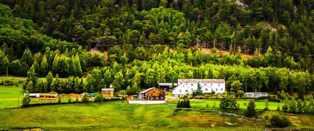 北欧风光,山林中的家_图1-16