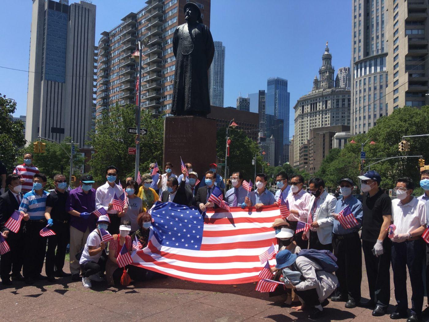 纽约华埠侨团声援支持纽约警察活动_图1-3