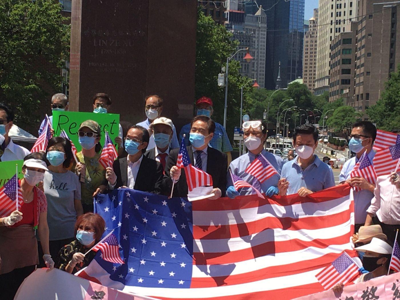 纽约华埠侨团声援支持纽约警察活动_图1-5