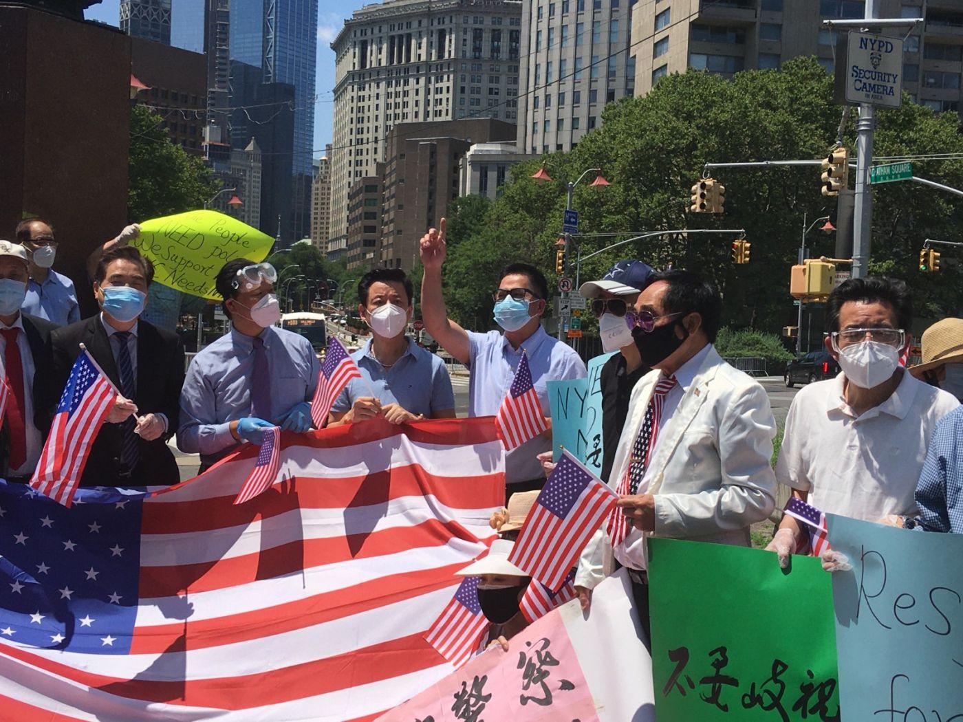 纽约华埠侨团声援支持纽约警察活动_图1-7