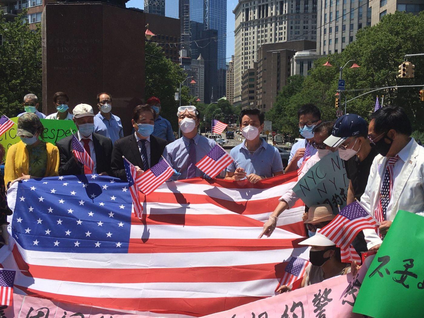 纽约华埠侨团声援支持纽约警察活动_图1-8