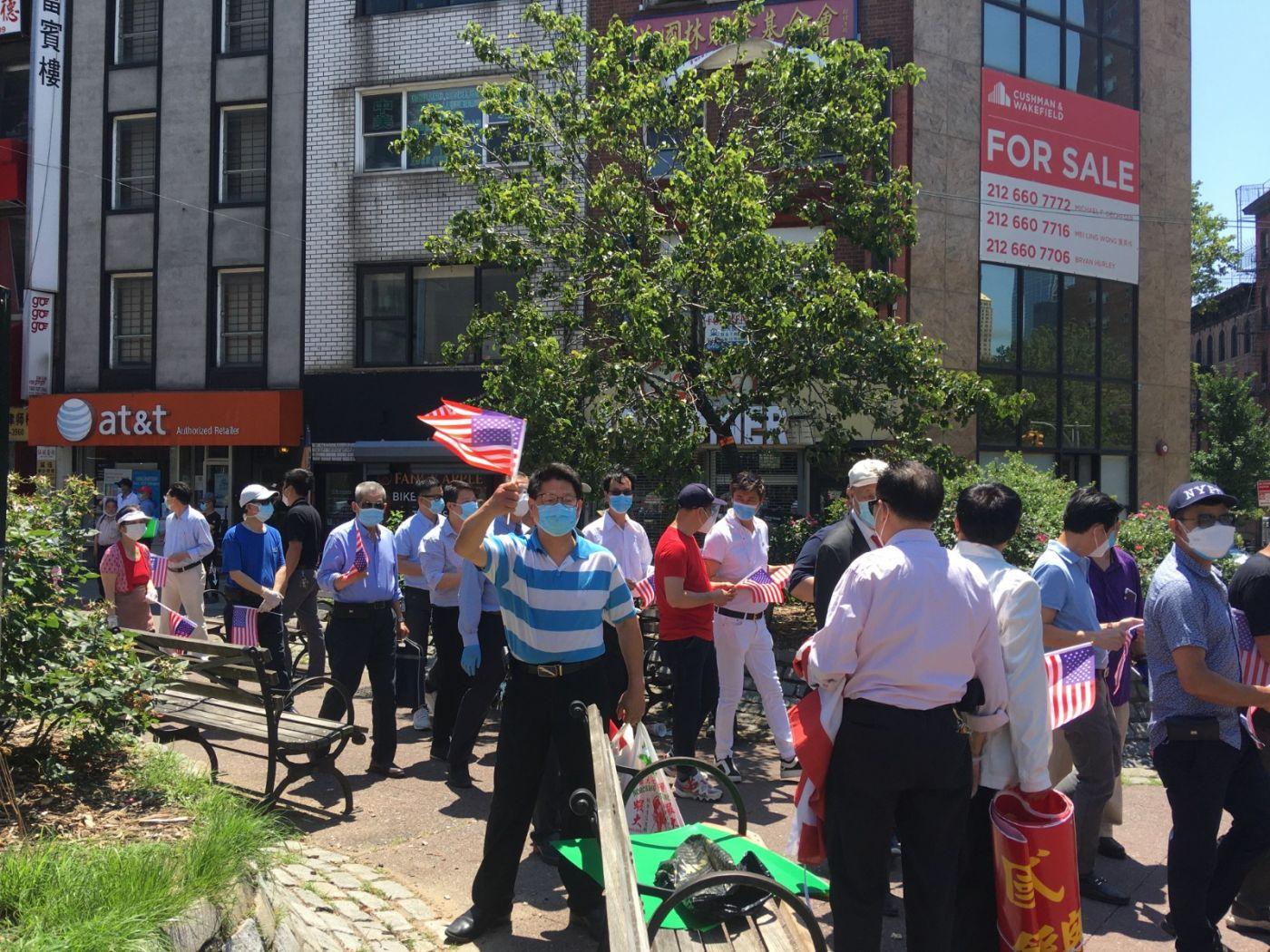 纽约华埠侨团声援支持纽约警察活动_图1-10