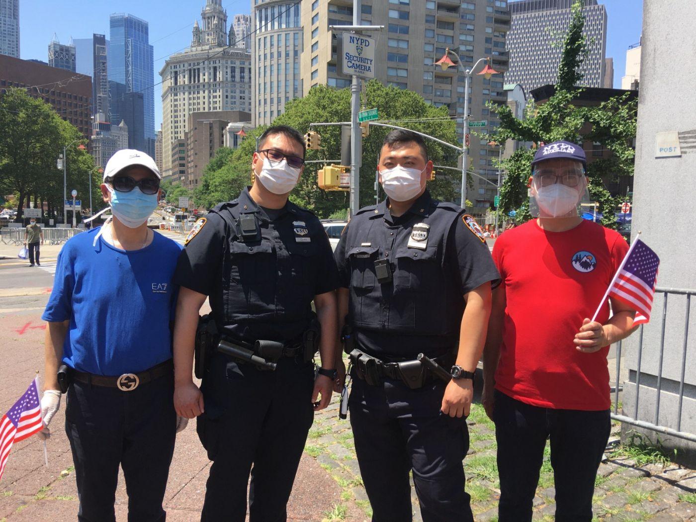 纽约华埠侨团声援支持纽约警察活动_图1-19