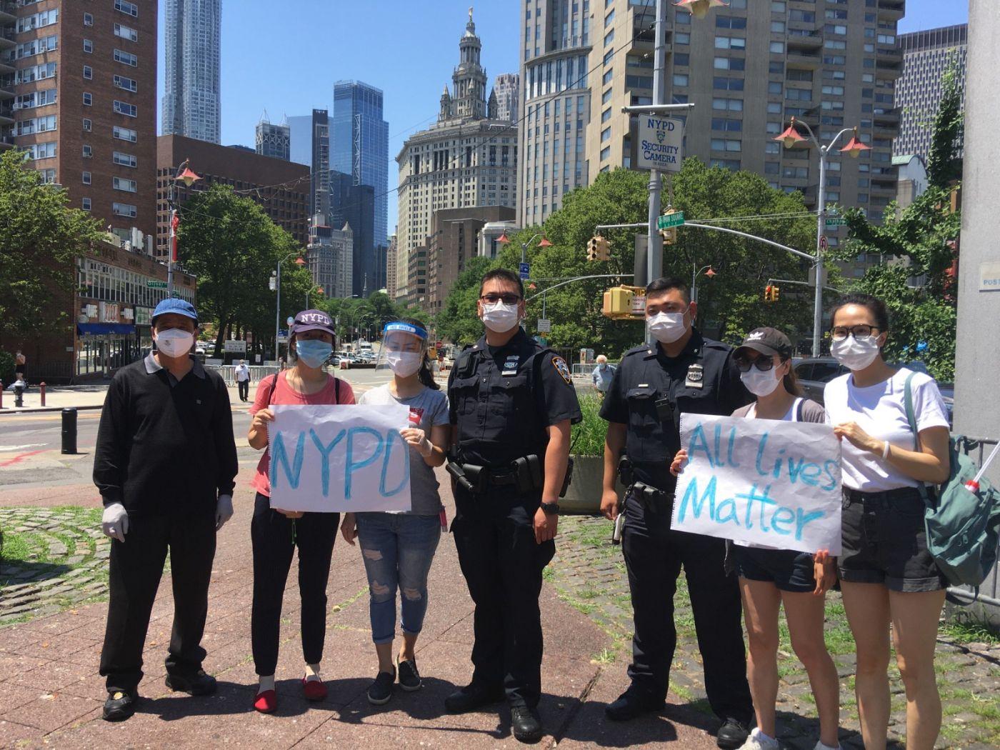 纽约华埠侨团声援支持纽约警察活动_图1-20