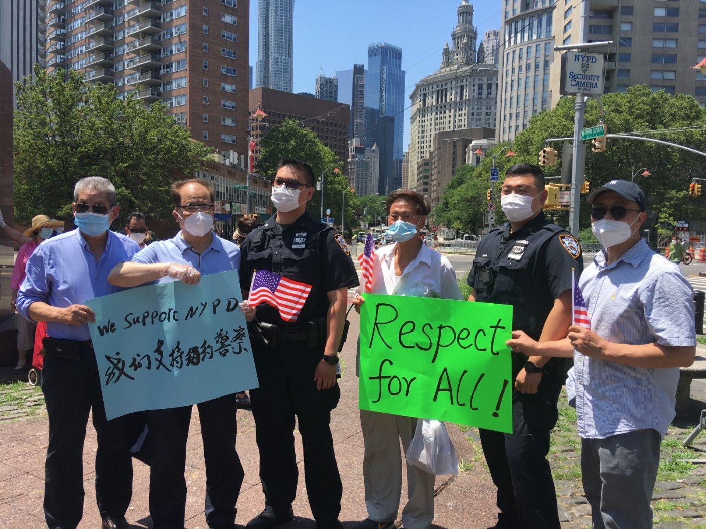 纽约华埠侨团声援支持纽约警察活动_图1-22