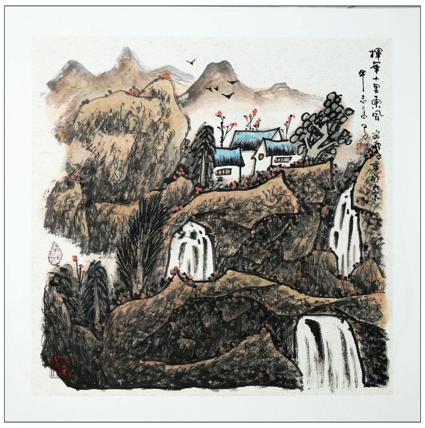 牛志高2020山水画新作-----2020.07.05_图1-5