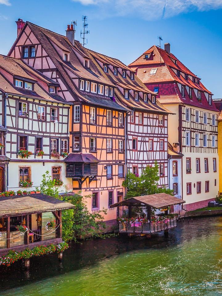 法国斯特拉斯堡(Strasbourg),河边眺望_图1-29