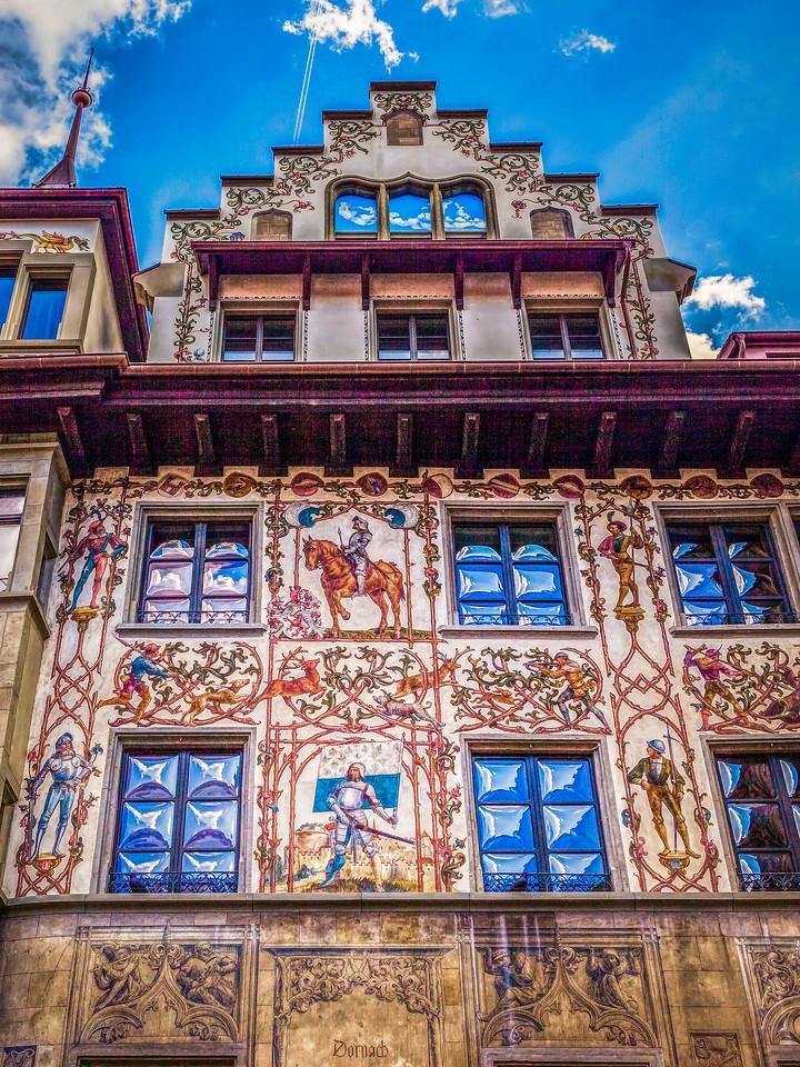 瑞士卢塞恩(Lucerne),墙上杰作_图1-40