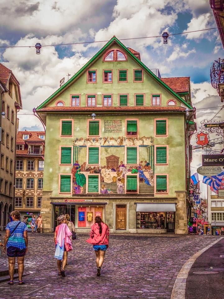 瑞士卢塞恩(Lucerne),墙上杰作_图1-34