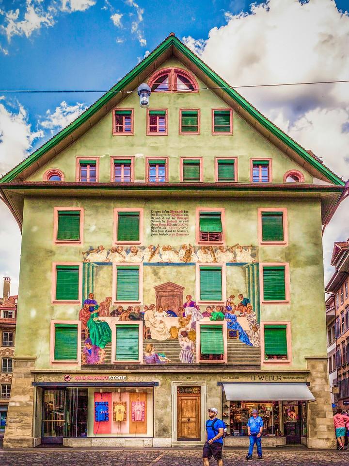 瑞士卢塞恩(Lucerne),墙上杰作_图1-30