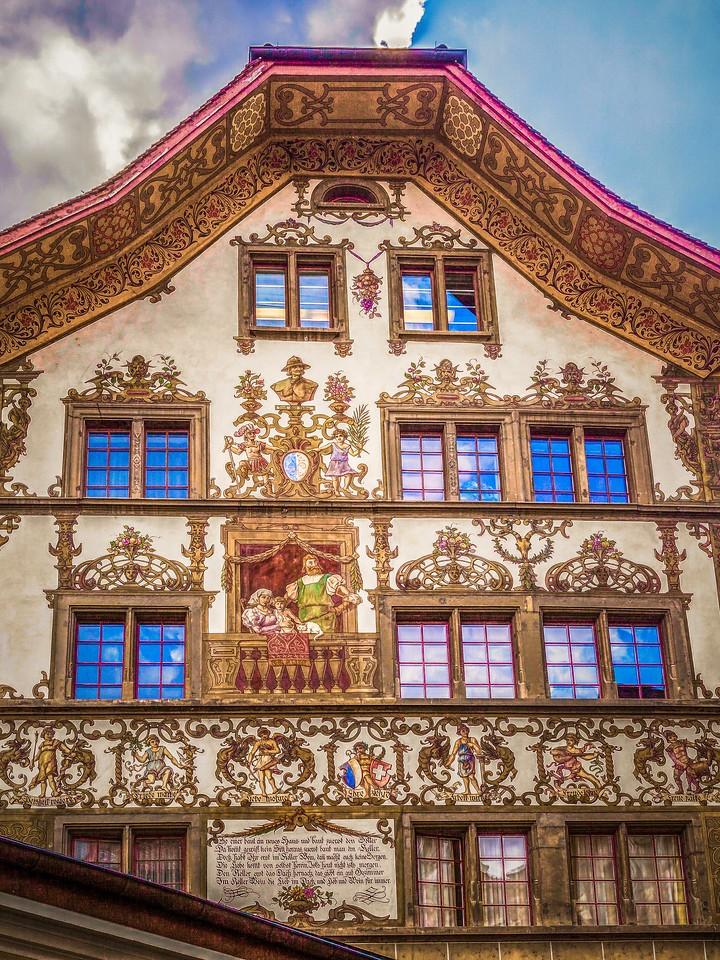 瑞士卢塞恩(Lucerne),墙上杰作_图1-9