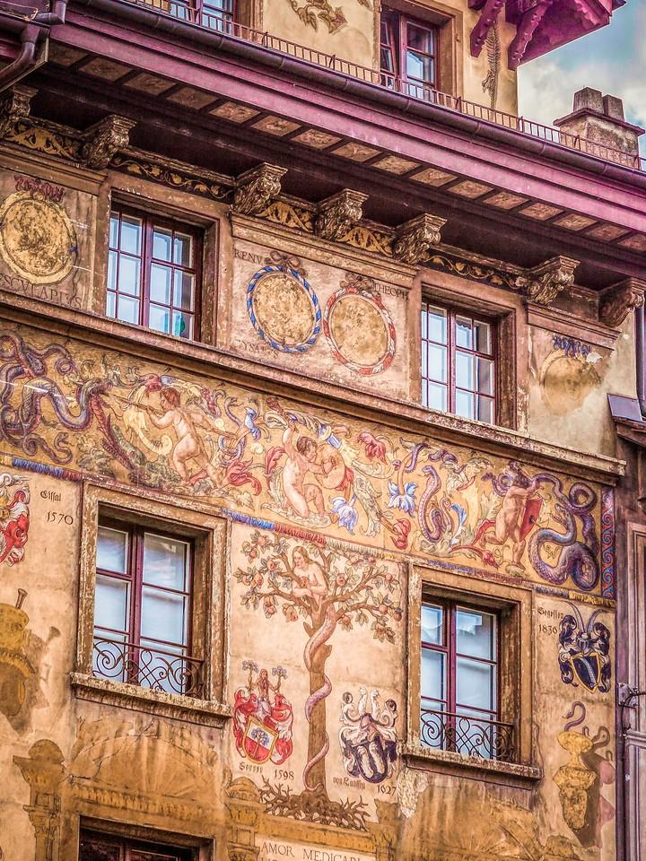 瑞士卢塞恩(Lucerne),墙上杰作_图1-10