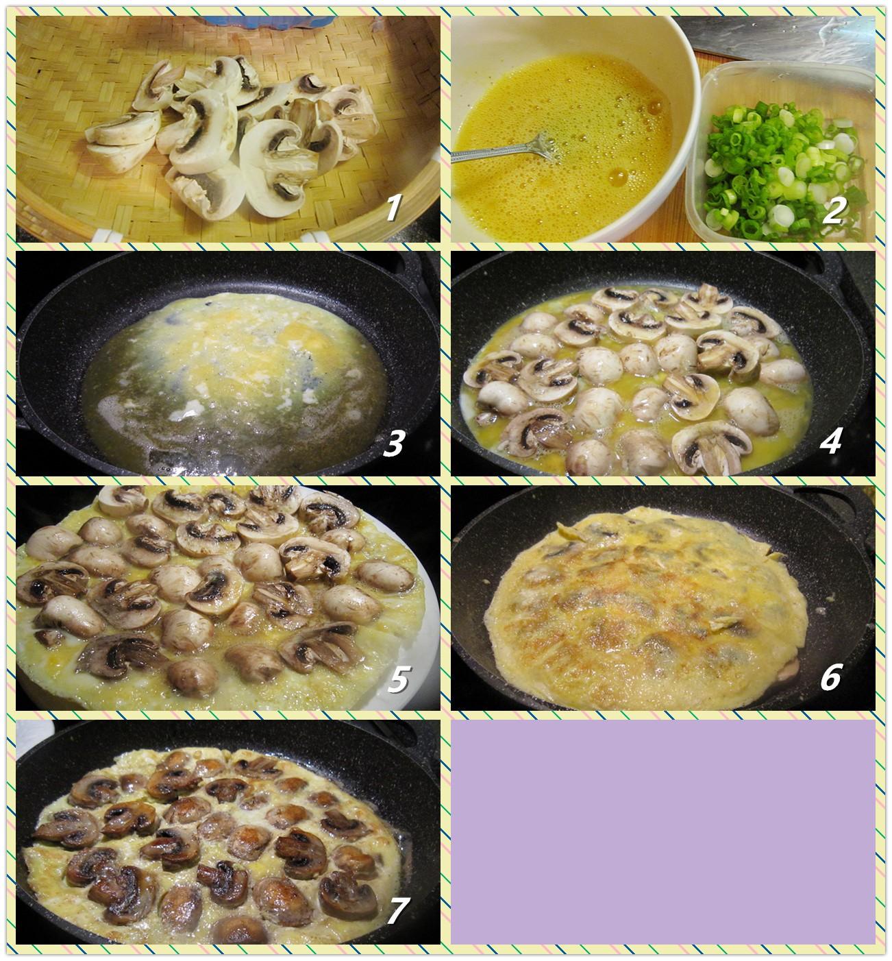 鸡蛋煎蘑菇_图1-2