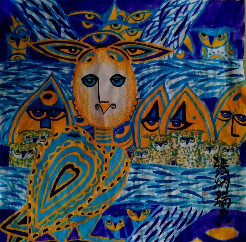 浪漫主义意象画派创始人张炳瑞香的视频【绘画在血液里流淌】 ..._图1-1